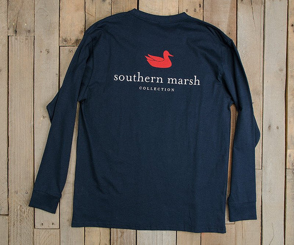 Southern Marsh Authentic Long Sleeve T-Shirt-Navy Blue - Bennett's Clothing - 2