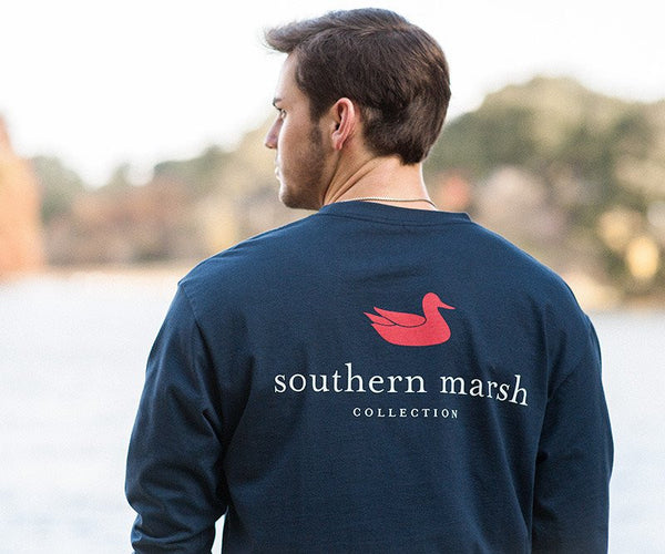 Southern Marsh Authentic Long Sleeve T-Shirt-Navy Blue - Bennett's Clothing - 1