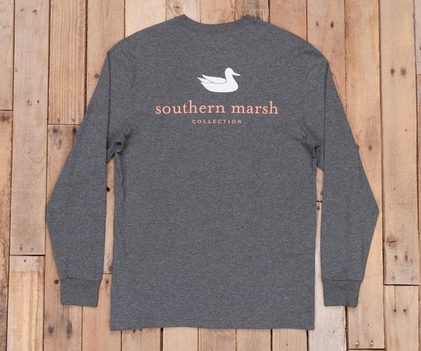 Southern Marsh Authentic Long Sleeve T-Shirt-Midnight Grey - Bennett's Clothing - 1