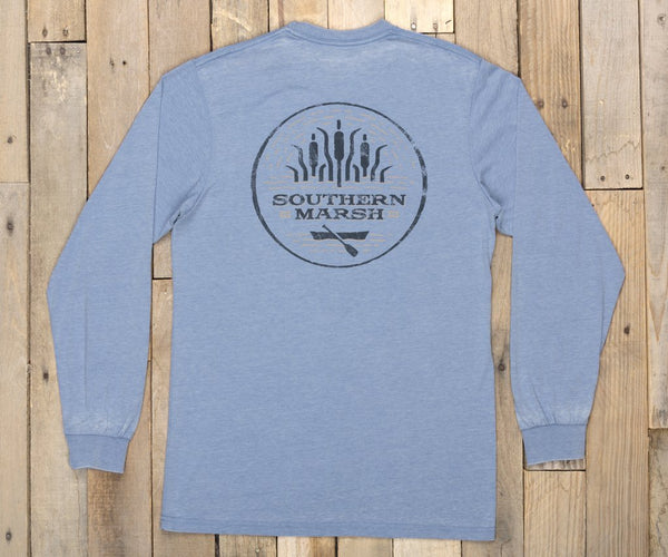 Southern Marsh Seawash Paddle Long Sleeve T-Shirt-Washed Blue