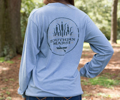 Cool, Vintage looking Southern Marsh Paddle Long Sleeve T-shirt -Shop Bennetts Clothing where you find the best brands and same day shipping.