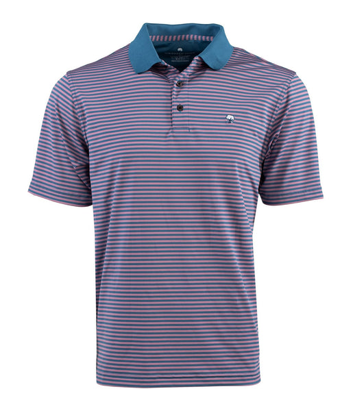 Southern Shirt Company Bryant Stripe Performance Polo-Orchid Haze