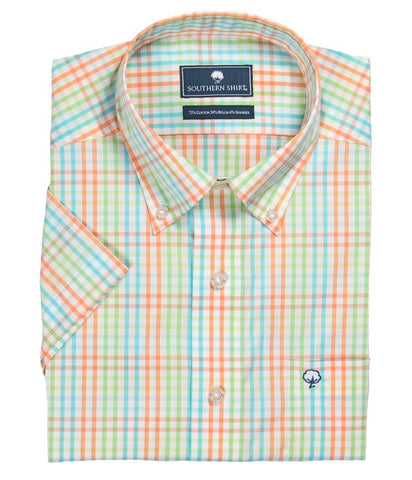 Southern Shirt Company Walton Check Button Down Shirt-Maui Lime