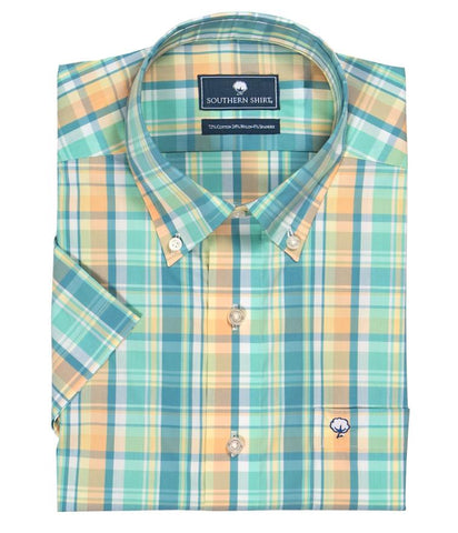 Southern Shirt Company Limelight Plaid Button Down Shirt-Sawgrass