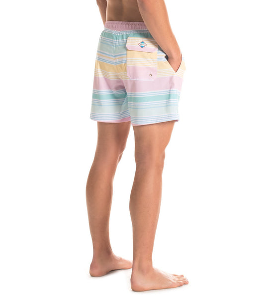 Southern Shirt Co Mens Bermuda Swim Trunks-Neapolitan