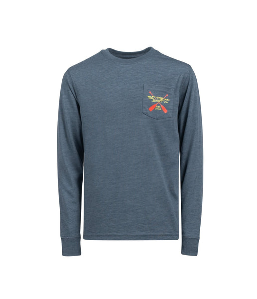 Southern Shirt Company Boy's Paddle On Long Sleeve T-Shirt-Oxford