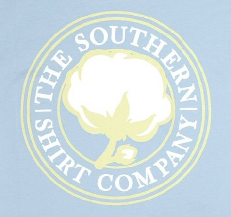 Southern Shirt Company Men's Sig Logo T-Shirt-Chambray Blue