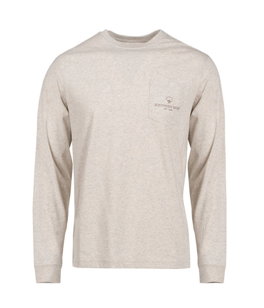 Southern Shirt Co Catch and Release Long Sleeve Tee-Oatmeal