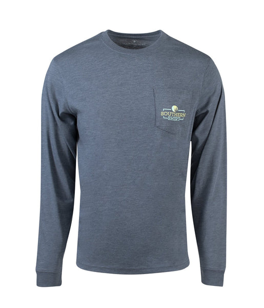 Southern Shirt Co Rainbow Timber Creek Long Sleeve Tee-Slate Blue