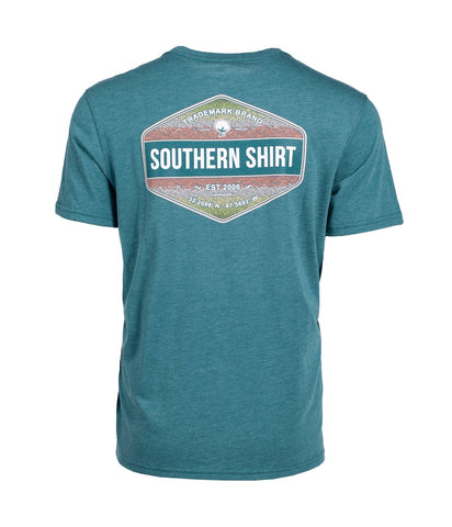 Southern Shirt Company Rainbow Trout Badge Tee-Colonial Blue