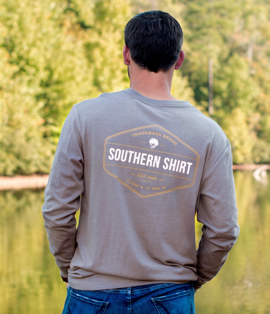 Southern Shirt Company Patch Trademark Badge Tee-Sage Grey