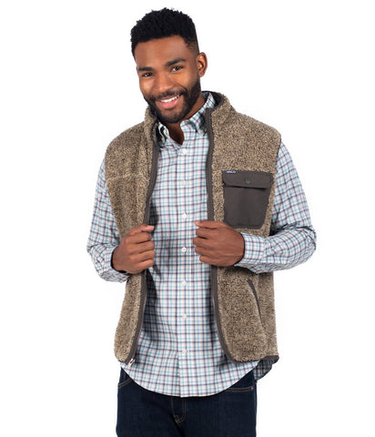 Southern Shirt Company Men's Kodiak Sherpa Vest -Shop Bennetts Clothing for the best styles of the clothing you want