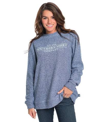 Southern Shirt Company Heather Cozy Pullover-Estate Blue