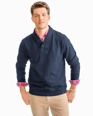 Southern Tide Shawl Collar Cotton Pullover -Shop Bennetts Clothing for a large selection of name brand menswear