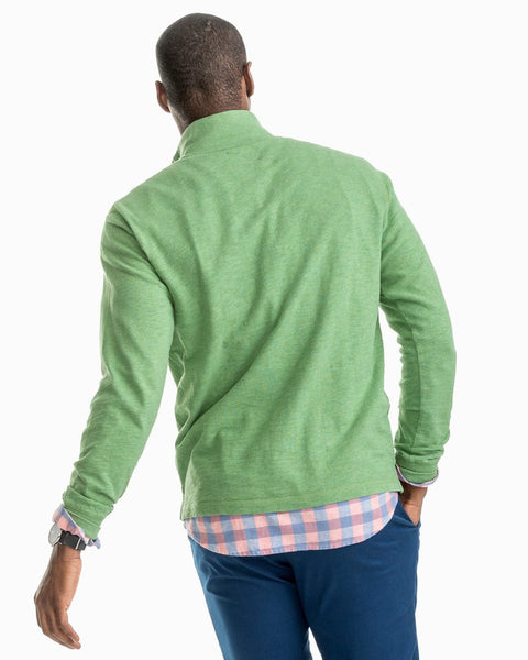 Southern Tide Gulf Stream Heather Pullover-Bay Leaf Green
