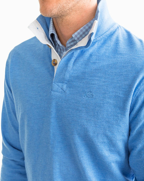 Southern Tide Gulf Stream Heather Pullover-Deep Water