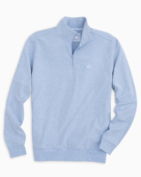 Southern Tide Skipjack Pique 1/4 Zip Pullover-Light Blue