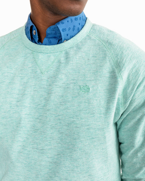 Southern Tide Ocean Course Crew Pullover-Offshore Green