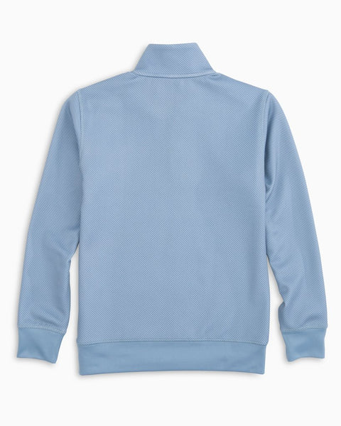 Southern Tide Boys Shark Skin Performance 1/4 Zip Pullover-Ash Blue