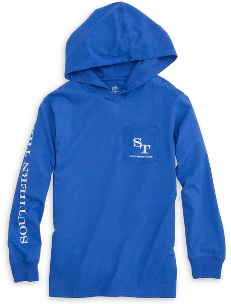 Southern Tide Kids Skipjack Hoodie-Royal Blue - Bennett's Clothing - 2