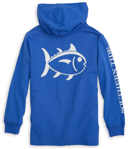 Southern Tide Kids Skipjack Hoodie-Royal Blue - Bennett's Clothing - 1