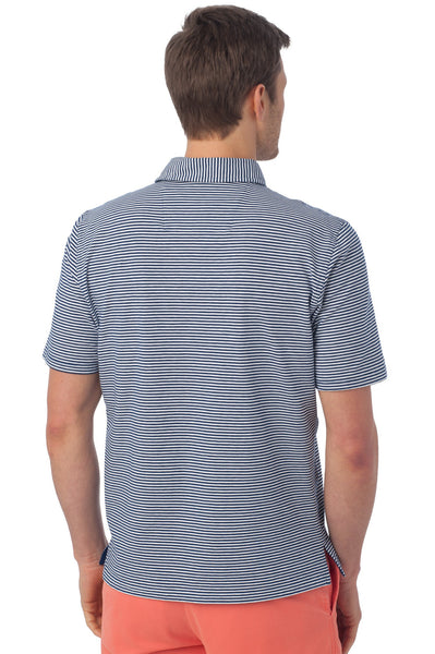 Southern Tide Striped Channel Marker Polo-Blue Depths - Bennett's Clothing - 3