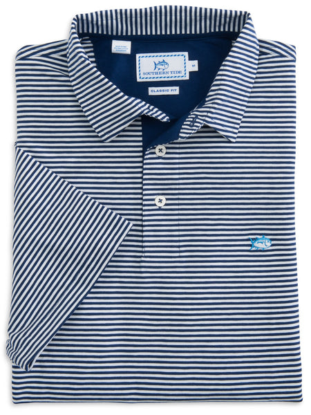 Southern Tide Striped Channel Marker Polo-Blue Depths - Bennett's Clothing - 4