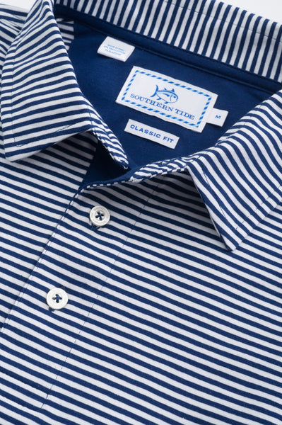 Southern Tide Striped Channel Marker Polo-Blue Depths - Bennett's Clothing - 5