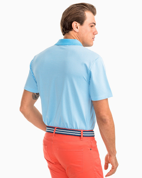 Southern Tide Fort Charlotte Performance Stripe Polo-Classic White