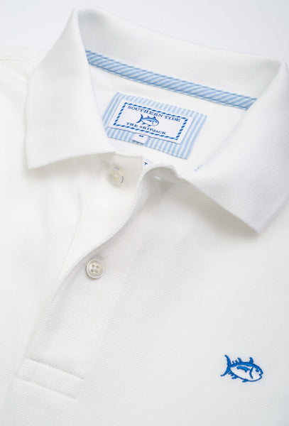 Southern Tide Men's Skipjack Polo-Classic White - Bennett's Clothing - 3