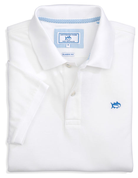 Southern Tide Men's Skipjack Polo-Classic White - Bennett's Clothing - 1
