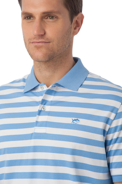 Southern Tide Stripe Skipjack Polo-Ocean Channel - Bennett's Clothing - 3