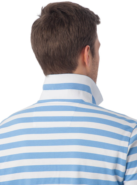 Southern Tide Stripe Skipjack Polo-Ocean Channel - Bennett's Clothing - 2