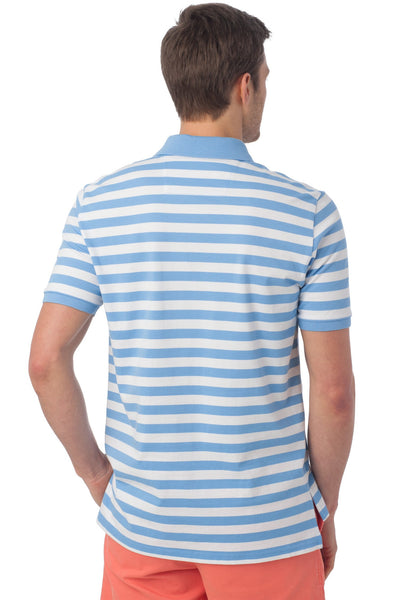 Southern Tide Stripe Skipjack Polo-Ocean Channel - Bennett's Clothing - 4