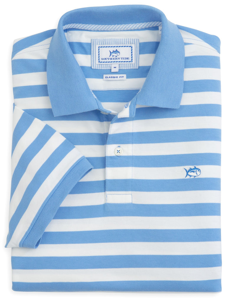 Southern Tide Stripe Skipjack Polo-Ocean Channel - Bennett's Clothing - 1