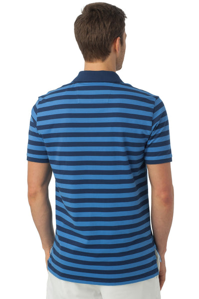 Southern Tide Stripe Skipjack Polo-Yacht Blue - Bennett's Clothing - 4
