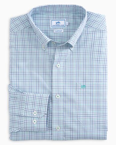 Southern Tide Pinneys Beach Plaid Sport Shirt-Tsunami Grey