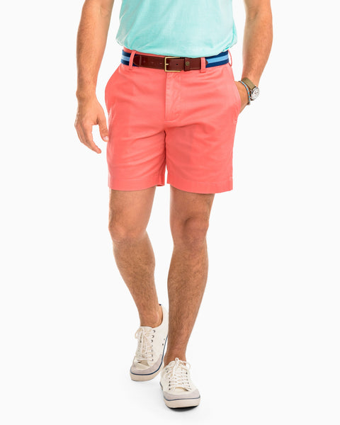 "Southern Tide 7"" Channel Marker Short-Shell Pink"