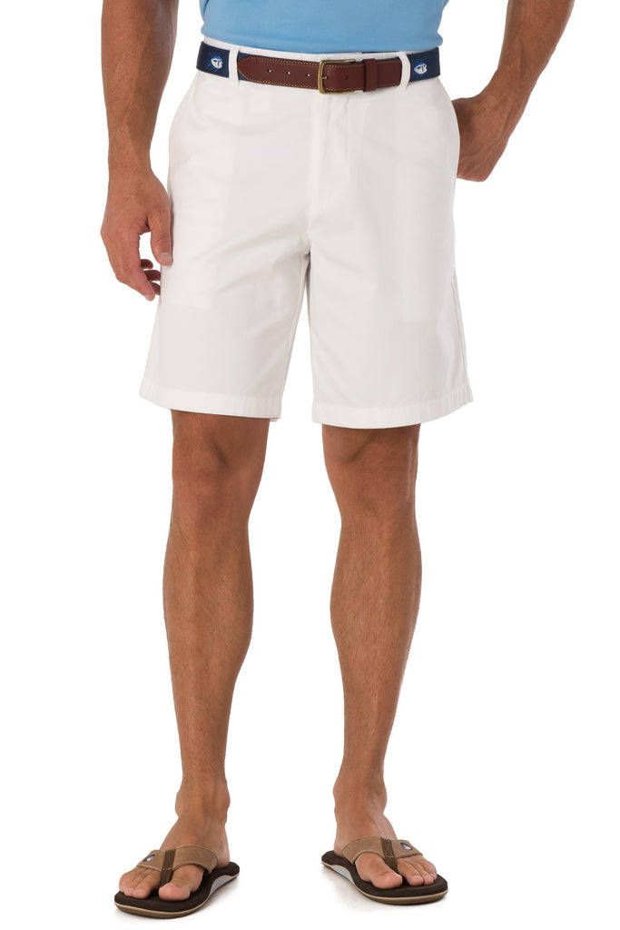 "Southern Tide 9"" Skipjack Short-White - Bennett's Clothing - 1"