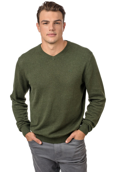 Southern Tide Pawleys V-Neck Sweater-Spruce