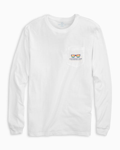 Southern Tide Mountain Weekend Cooler Long Sleeve T-Shirt-White