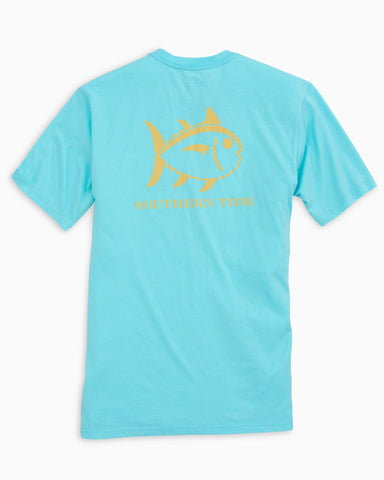 Southern Tide Short Sleeve Weathered Skipjack T-Shirt-Crystal Blue
