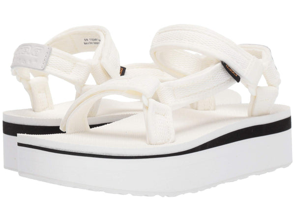 Teva Flatform Universal Mesh sandal in Bright White will elevate your wardrobe this season. Shop Bennetts Clothing for the brands you love with same day shipping.