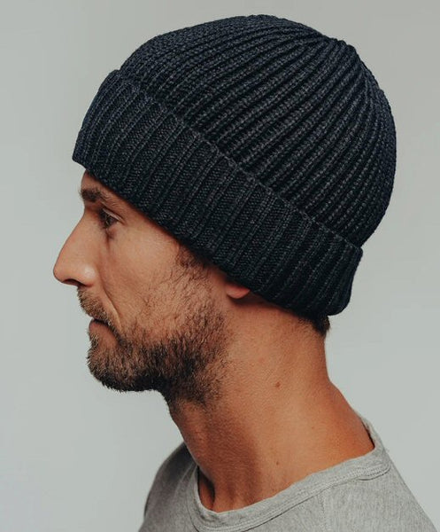 The Normal Brand Canvas Fisherman Beanie-Navy Blue
