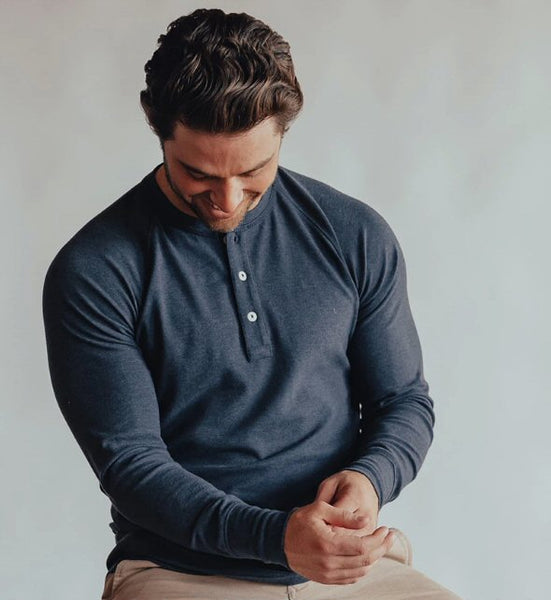 The Normal Brand Puremeso Raglan Henley is so soft and looks great layered or worn alone. Shop Bennetts Clothing and receive same day shipping
