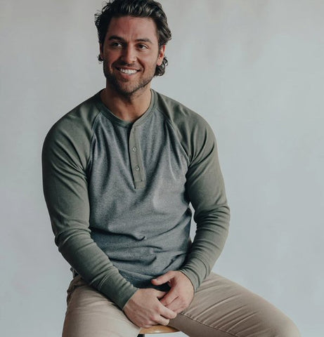 The Normal Brand Puremeso Retro Henley is so soft and looks great layered or worn alone. Shop Bennetts Clothing and receive same day shipping