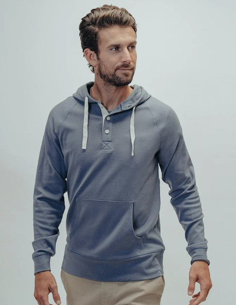 The Normal Brand Puremeso Hoodie-Mineral Blue