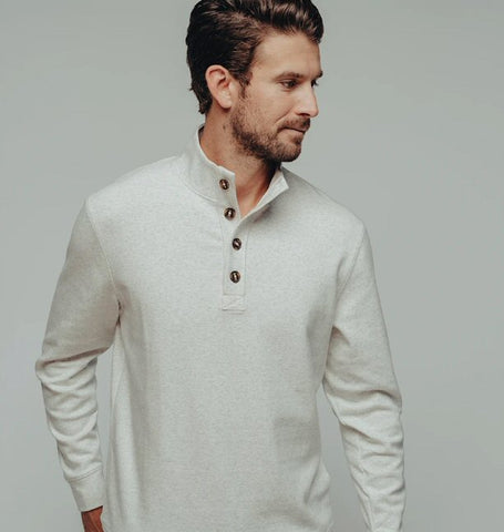 The Normal Brand Puremeso Button Popover is so soft and looks great layered or worn alone. Shop Bennetts Clothing and receive same day shipping