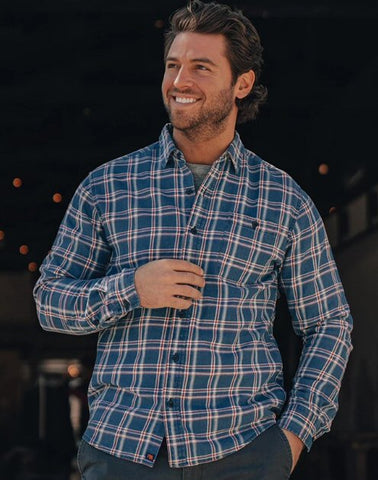 The Normal Brand Frankfort Indigo Twill button up shirt is rugged and ready for your next adventure. Shop Bennetts Clothing for the best name brands and receive same day shipping
