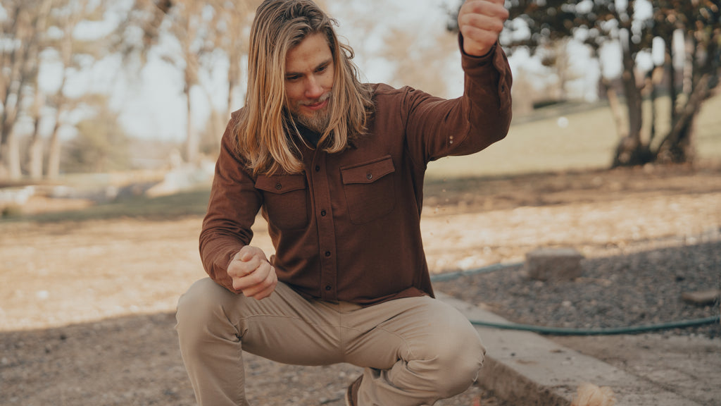 The Normal Brand Knit Workman Shirt Jacket is rugged and ready for your next adventure. Shop Bennetts Clothing for the best name brands and receive same day shipping